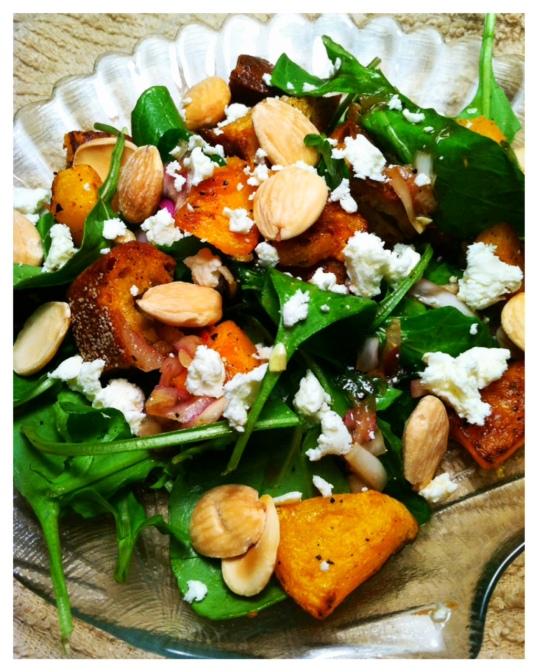 Butternut panzanella salad 2